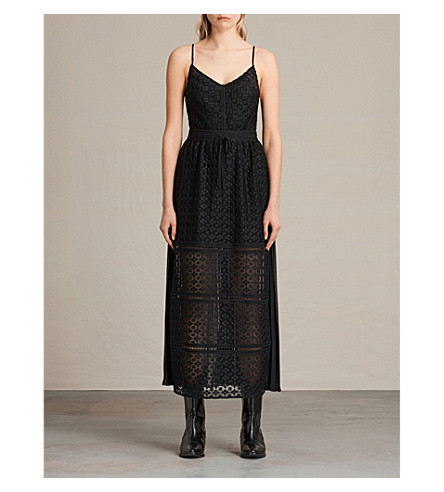 ALLSAINTS Alsen lace dress (Black