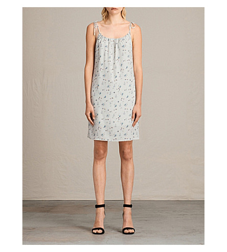 ALLSAINTS Mika Sommer crepe dress (Soap+grey