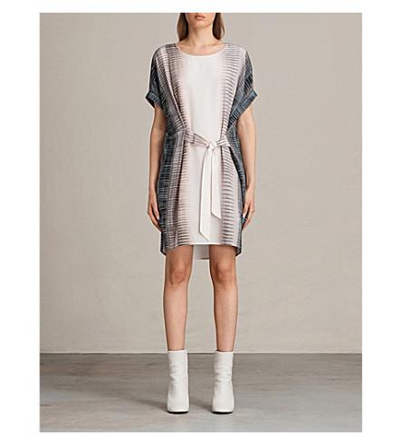 ALLSAINTS Sonny Dusk printed silk dress (Pink