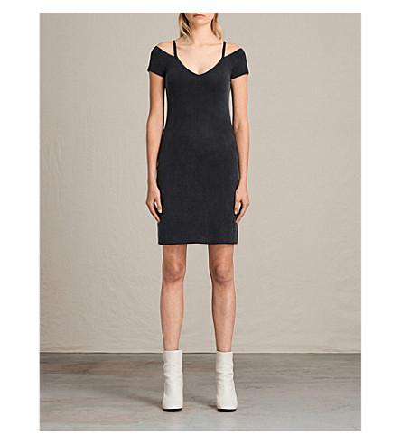 ALLSAINTS Boast jersey dress (Washed+black