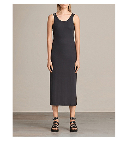 ALLSAINTS Isabel jersey dress (Washed+black