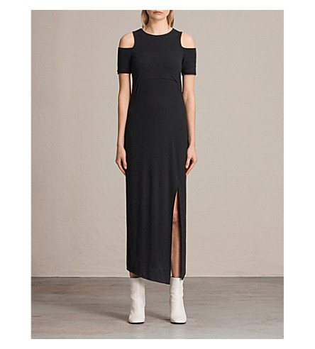 ALLSAINTS Soraia woven maxi dress (Black