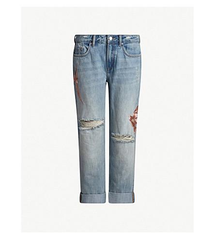 ALLSAINTS Alana boyfriend-fit low-rise jeans (Indigo+blue