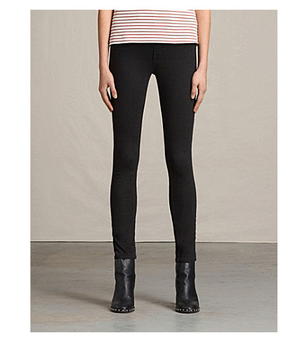 ALLSAINTS Stilt super-skinny high-rise jeans (Jet+black