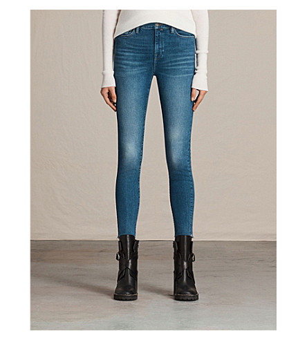 ALLSAINTS Eve skinny high-rise jeans (Vintage+indigo