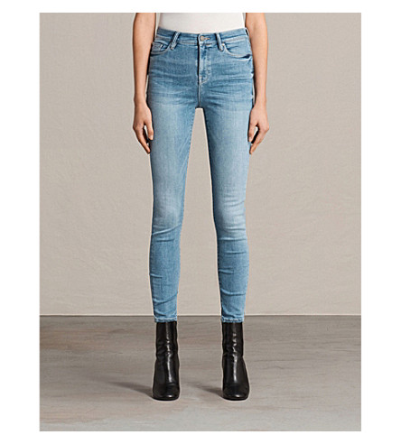 ALLSAINTS Eve Lux skinny high-rise jeans (Fresh+blue