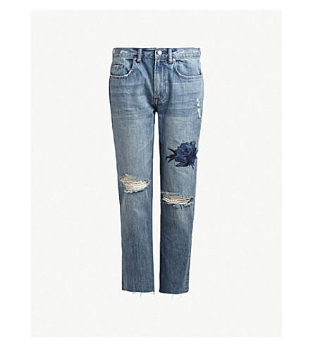 ALLSAINTS Boyfriend-fit low-rise denim jeans (Indigo+blue