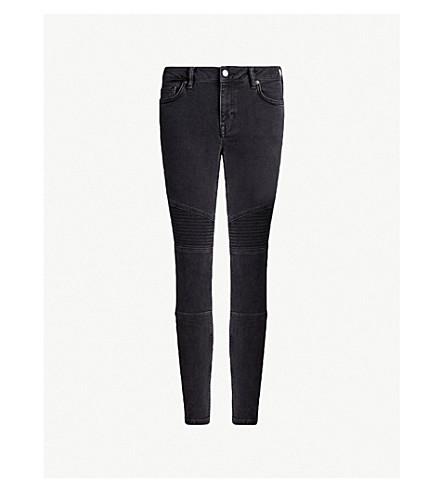ALLSAINTS Biker skinny low-rise jeans (Washed+black