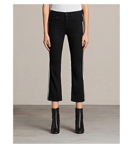 ALLSAINTS Heidi side-stripe kick-flare mid-rise jeans (Black