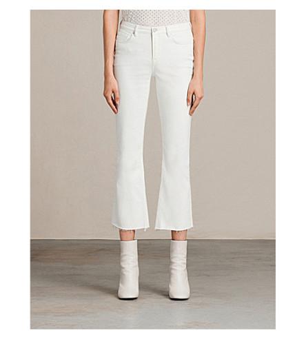 ALLSAINTS Zoe bootcut low-rise jeans (White