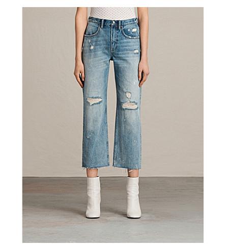 ALLSAINTS Mazzy cropped jeans (Mid+indigo+blu