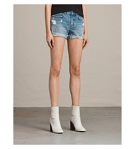 ALLSAINTS Pam denim shorts (Indigo+blue
