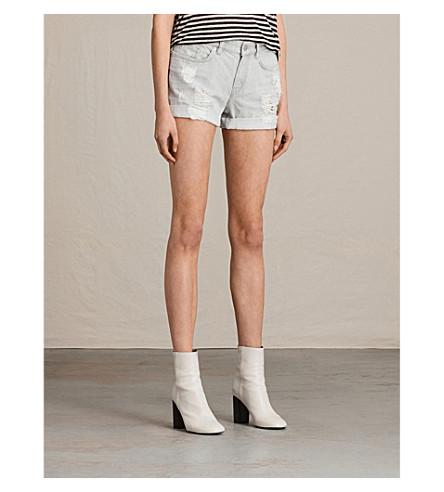 ALLSAINTS Pam denim shorts (Pale+grey
