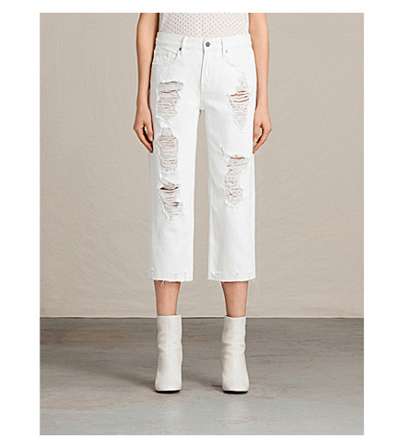 ALLSAINTS Boys cropped jeans (White