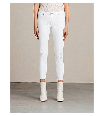 ALLSAINTS Mask skinny low-rise jeans (White