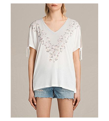 ALLSAINTS Loire Kay jersey T-shirt (Chalk+white