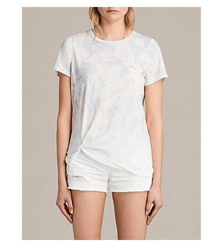 ALLSAINTS Tropix Mellon tropical-print jersey T-shirt (Chalk+white