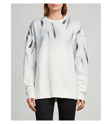 ALLSAINTS Plume Joy printed cotton-jersey sweatshirt (Chalk+white