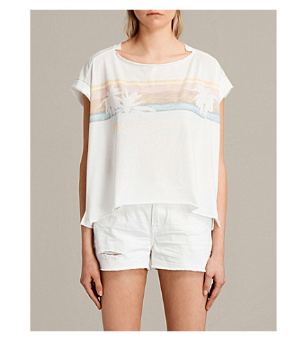 ALLSAINTS Gloam graphic-print jersey T-shirt (Chalk+white
