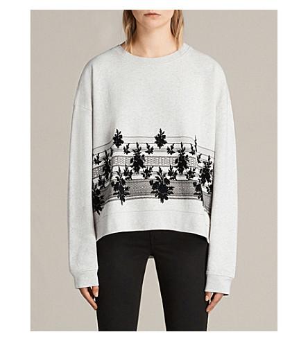ALLSAINTS Baroco printed cotton-jersey sweatshirt (Light+grey+mar