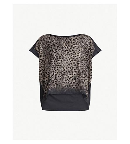 ALLSAINTS 放手棉 T 恤 (水洗 + 黑色)