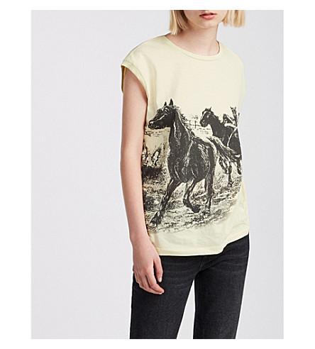 ALLSAINTS Graphic-print cotton T-shirt (Vintage+yellow