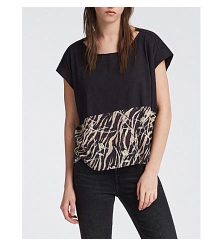 ALLSAINTS kazuno-打印 T 恤 (黑色