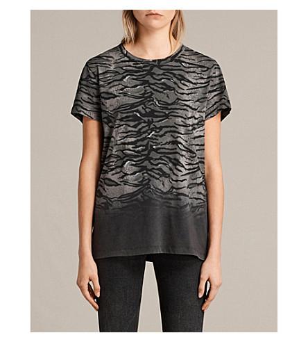 ALLSAINTS Joy tiger-print cotton-jersey T-shirt (Fadeout+black