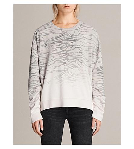 ALLSAINTS Tiger cotton jumper (Porcelain+whit