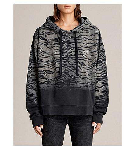 ALLSAINTS Tygr Lo cotton-jersey hoody (Vintage+black