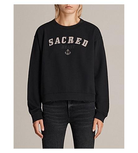 ALLSAINTS Sacred cotton-jersey sweatshirt (Black