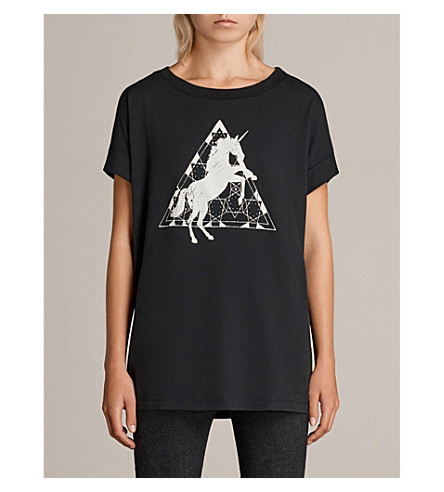 ALLSAINTS Spectrum Imogen cotton-jersey T-shirt (Black