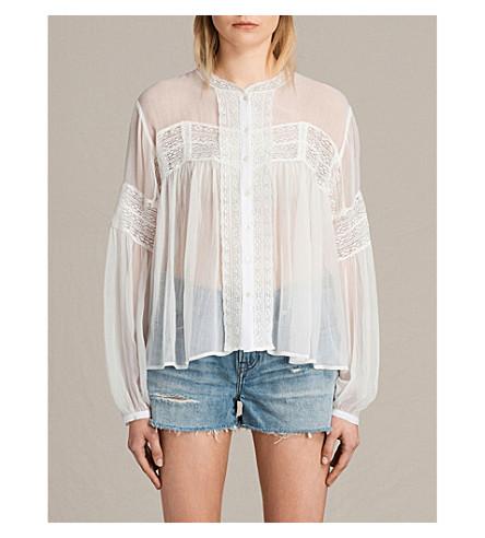 ALLSAINTS Pinto woven shirt (Chalk+white