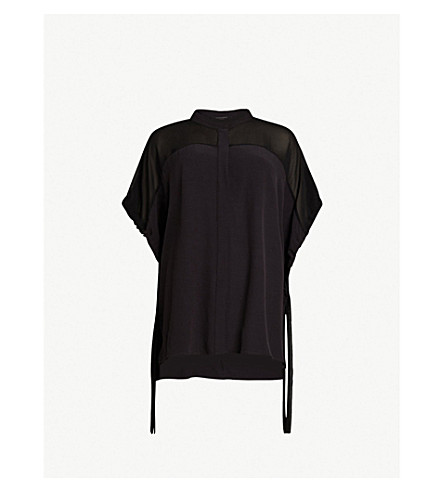 ALLSAINTS Arlesa loose-fit woven shirt (Black