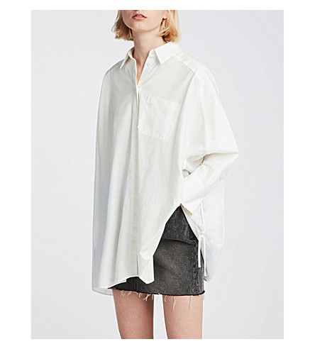 ALLSAINTS Savana cotton shirt (Chalk+white