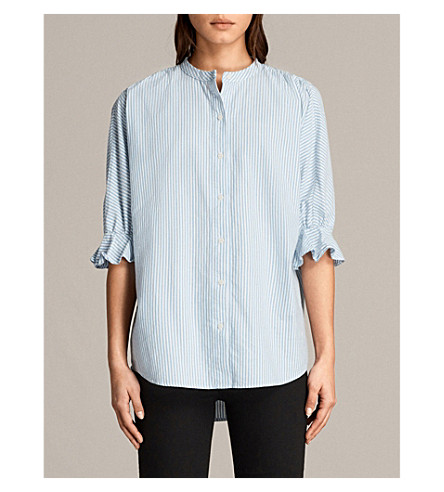 ALLSAINTS Joanna striped cotton shirt (Stripe