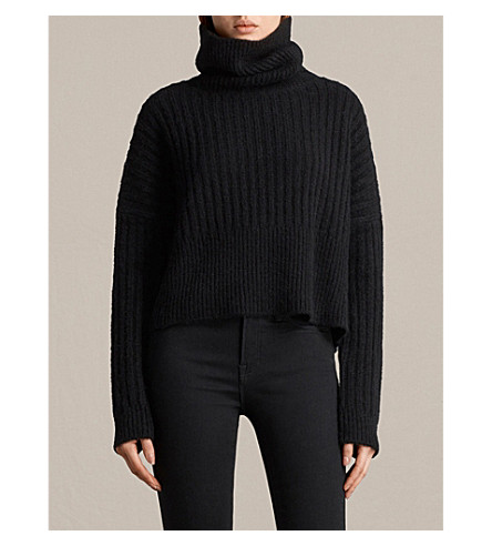 ALLSAINTS Pico wool-blend jumper (Black