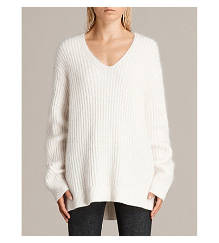 ALLSAINTS Ade mohair-blend jumper (Cream+white