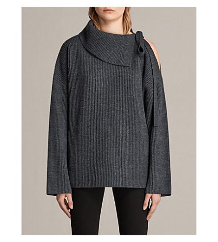 ALLSAINTS Sura turtleneck wool-blend jumper (Charcoal+grey
