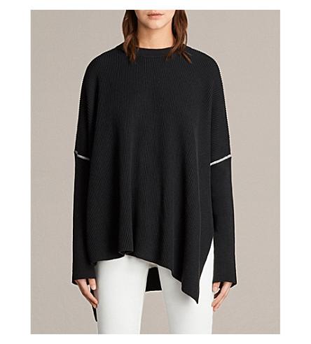 ALLSAINTS Rohe asymmetric knitted jumper (Black