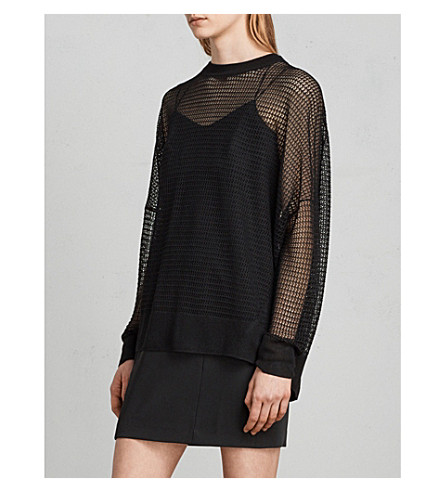 ALLSAINTS Rizo loose-fit knitted jumper (Black