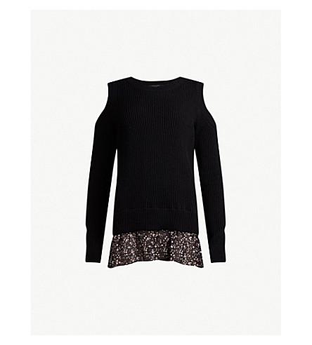 ALLSAINTS Pepper contrasting-panel knitted jumper (Black