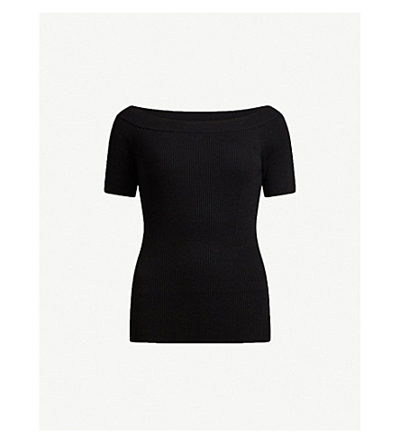 ALLSAINTS Lavine off-the-shoulder jersey top (Black