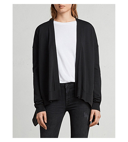 ALLSAINTS Waterfall cotton-blend cardigan (Black