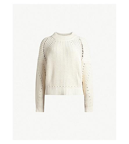 ALLSAINTS Malu knitted jumper (Ecru+white