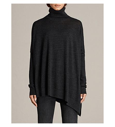 ALLSAINTS Iris turtleneck merino wool jumper (Cinder+black+m