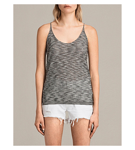 ALLSAINTS Blyth knitted vest top (Black/white