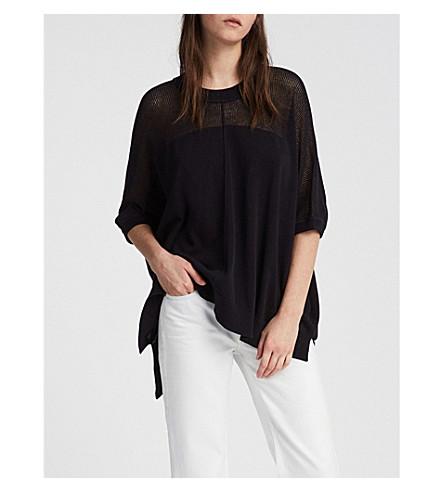 ALLSAINTS Blois oversized cotton-knit top (Black