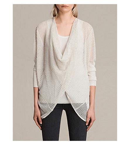 ALLSAINTS Levita knitted cowl jumper (Linen