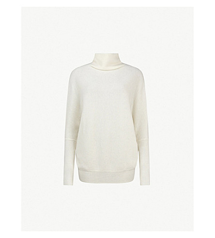ALLSAINTS Ridley wool and cashmere-blend jumper (Chalk+white